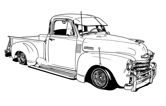 free coloring pages of old hot rod sheet