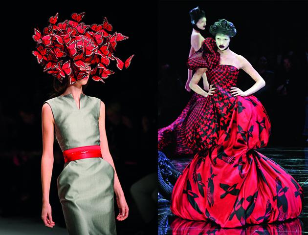 Fashion week spring summer 2008 runway alexander mcqueen paris fashion